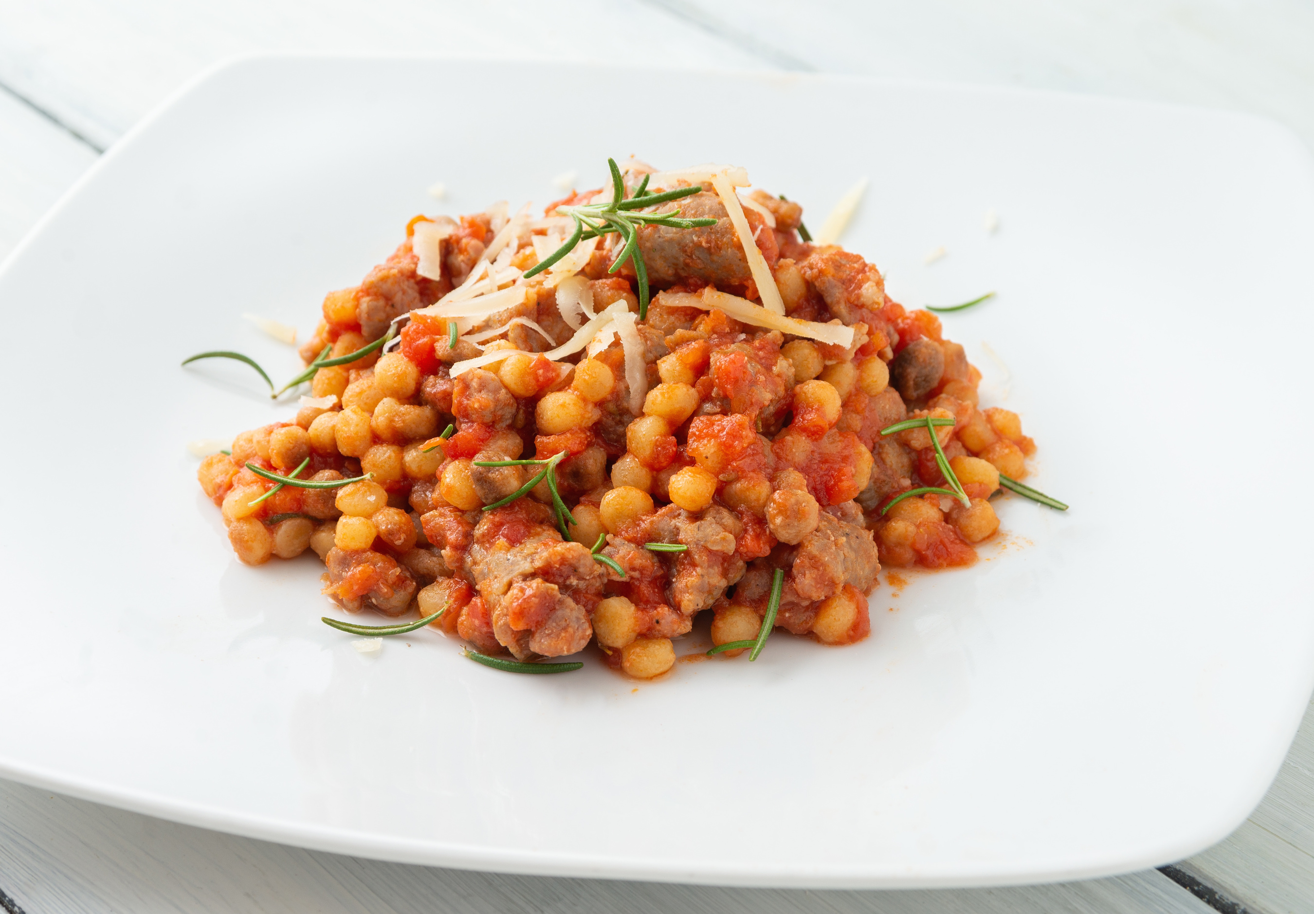 Sausage, Chickpea and Tomato Cassoulet