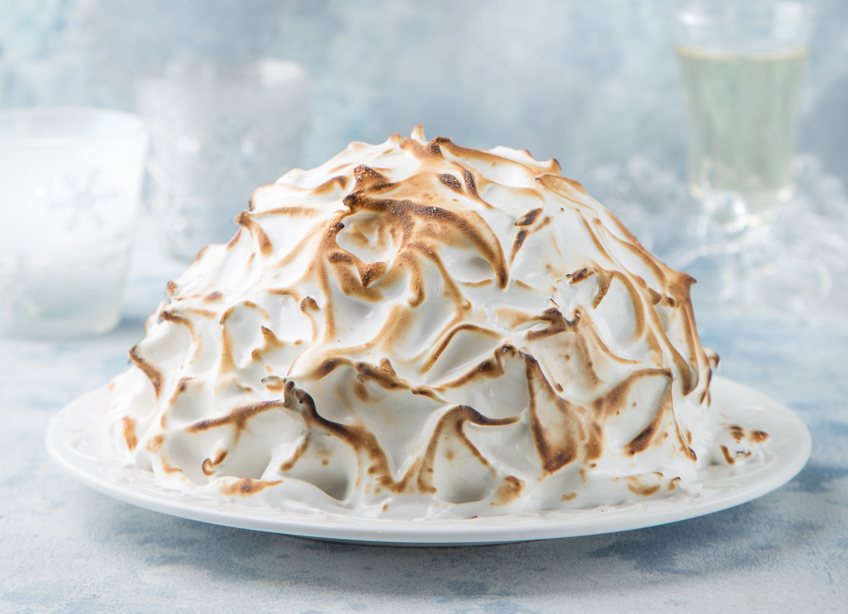 Christmas Pudding Baked Alaska