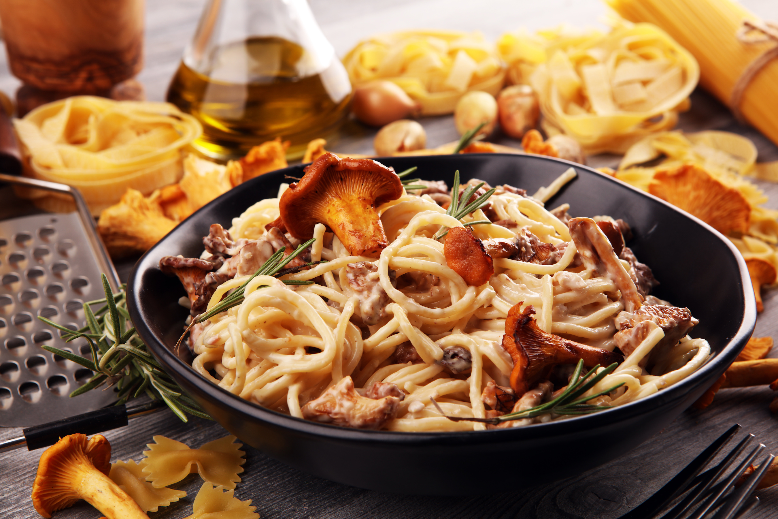 Mushroom and Marmite Spaghetti