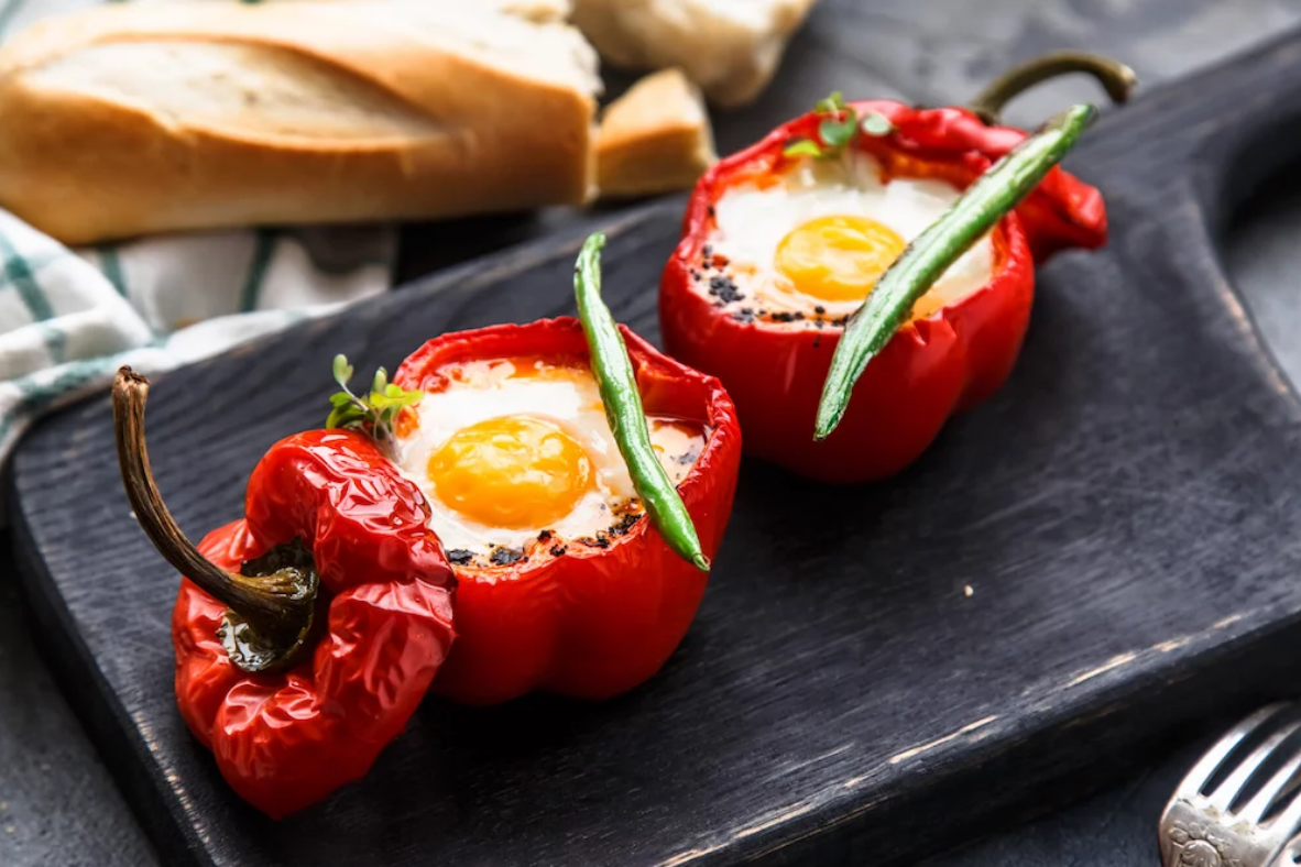 Easy Stuffed Mexican Eggy Peppers
