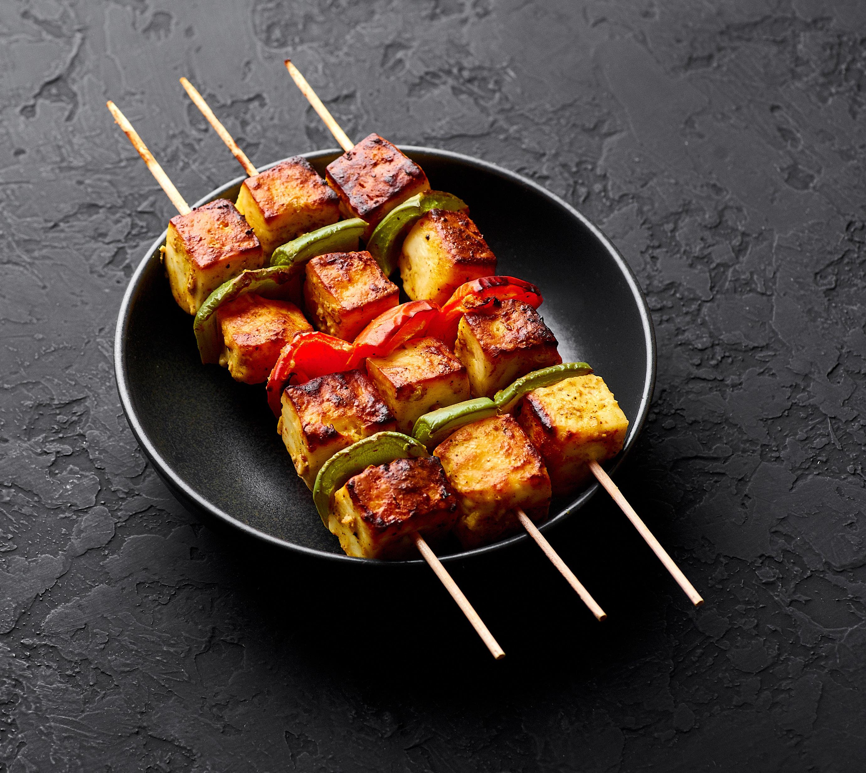 Chimichurri Paneer Kebabs