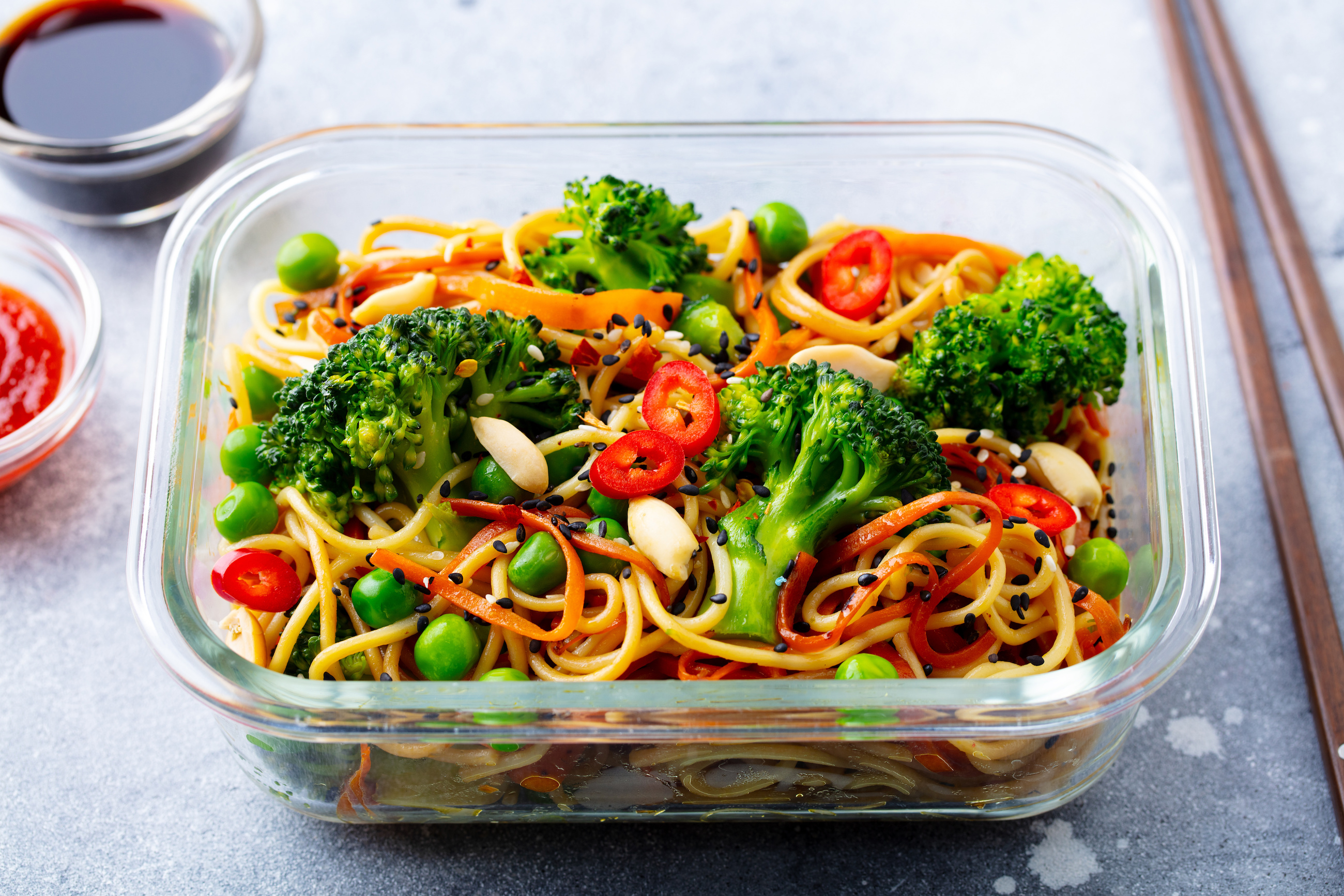 Thai style noodle lunchbox