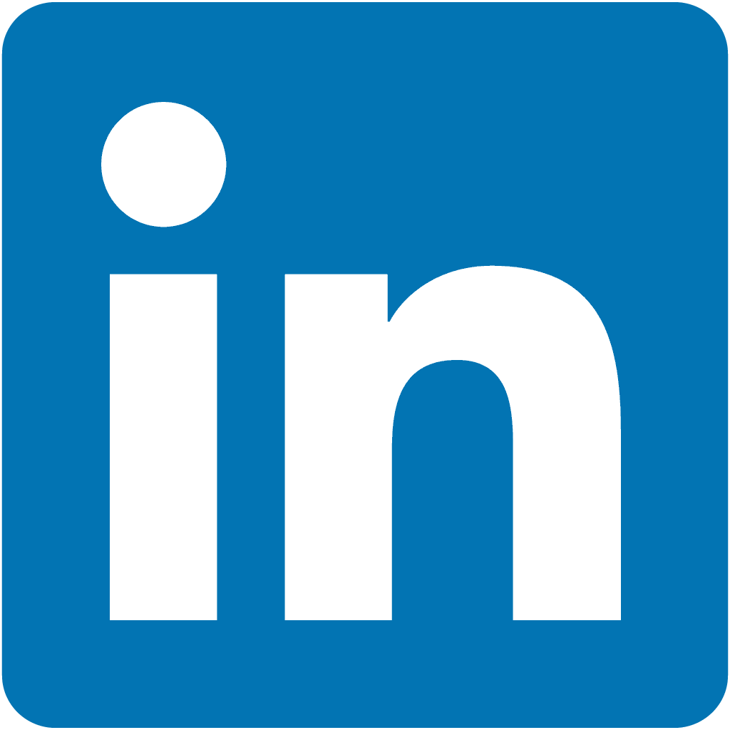 Logo LinkedIn with a link related to the related profile