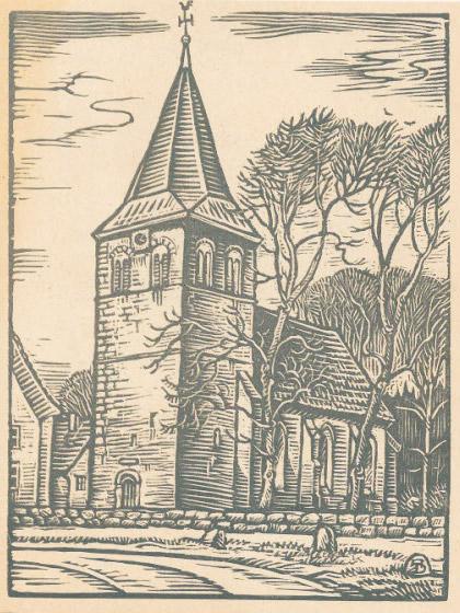 Reformierte Kirche, Brochterbeck. Die SA stamvader is hier in 1698 gedoop.