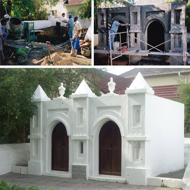 Die grafkelder onder konstruksie en soos in 2008 voltooi
