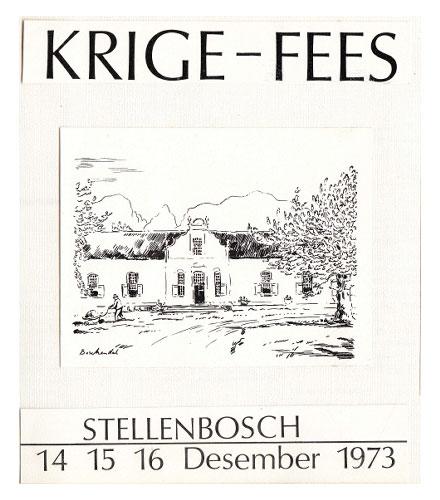 Voorblad van die 1973 Krige-feesprogram