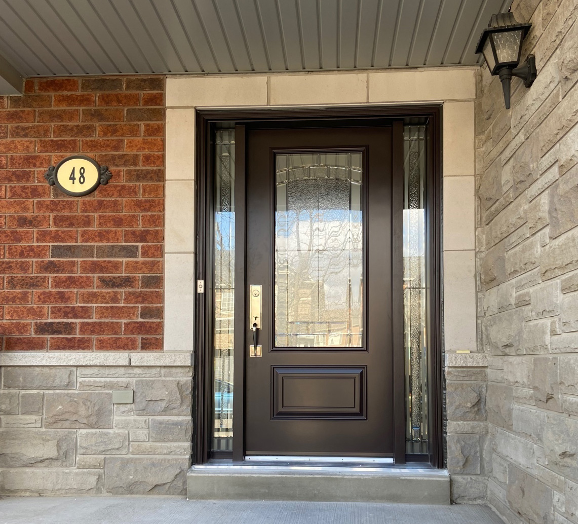 Replacing a front door in Vaughan, Toronto