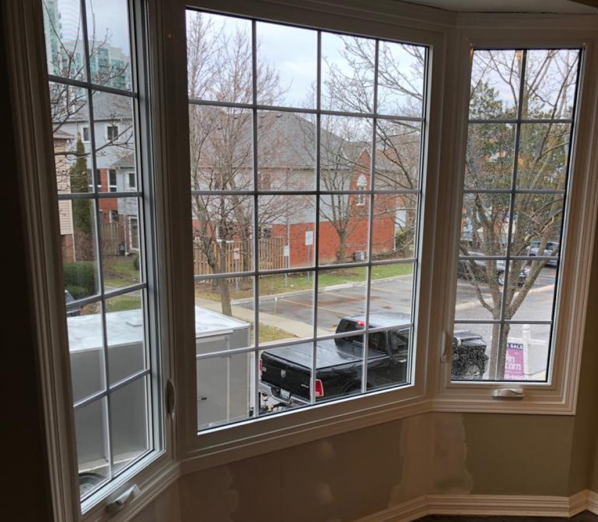 Replacing a bay window in Brampton