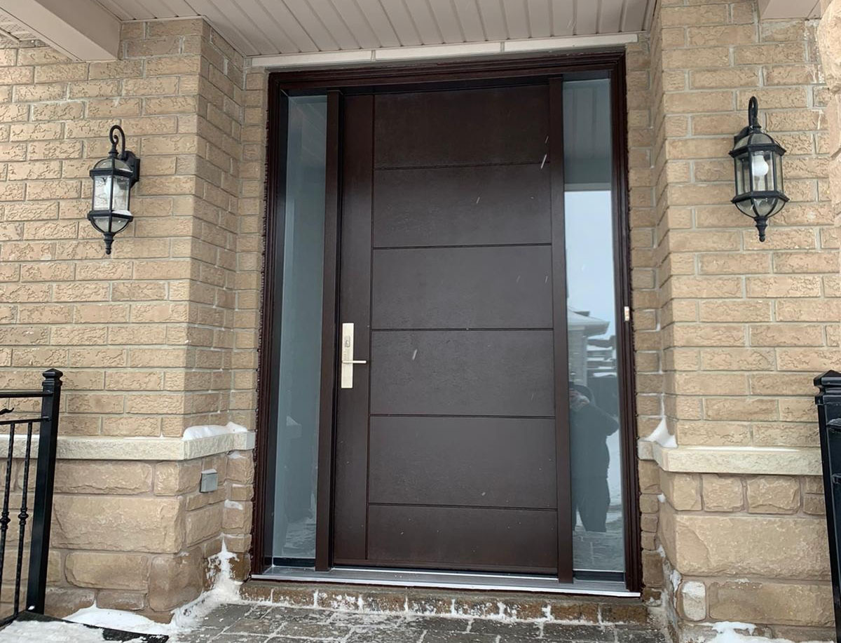 Front door installation in Vaughan