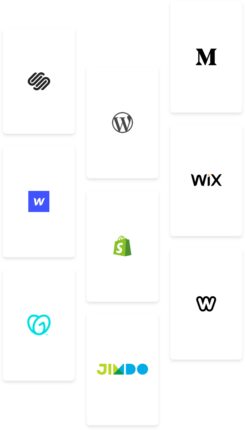Illustration of supported embed websites
