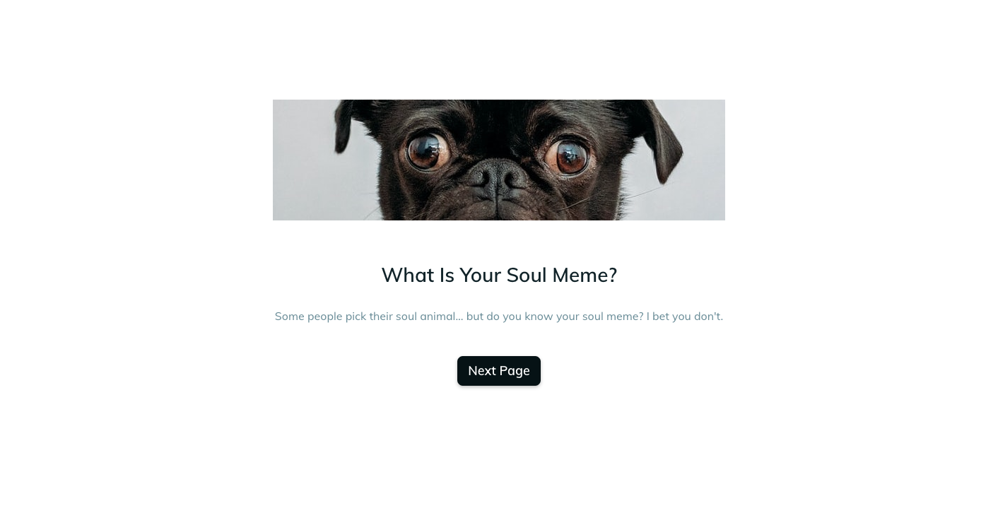 Template example of a meme quiz