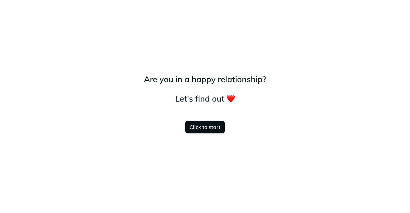 Template example of a relationship quiz