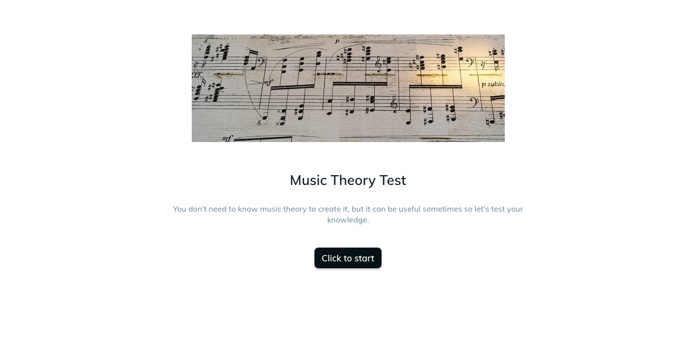 A template example of a music exam assessment