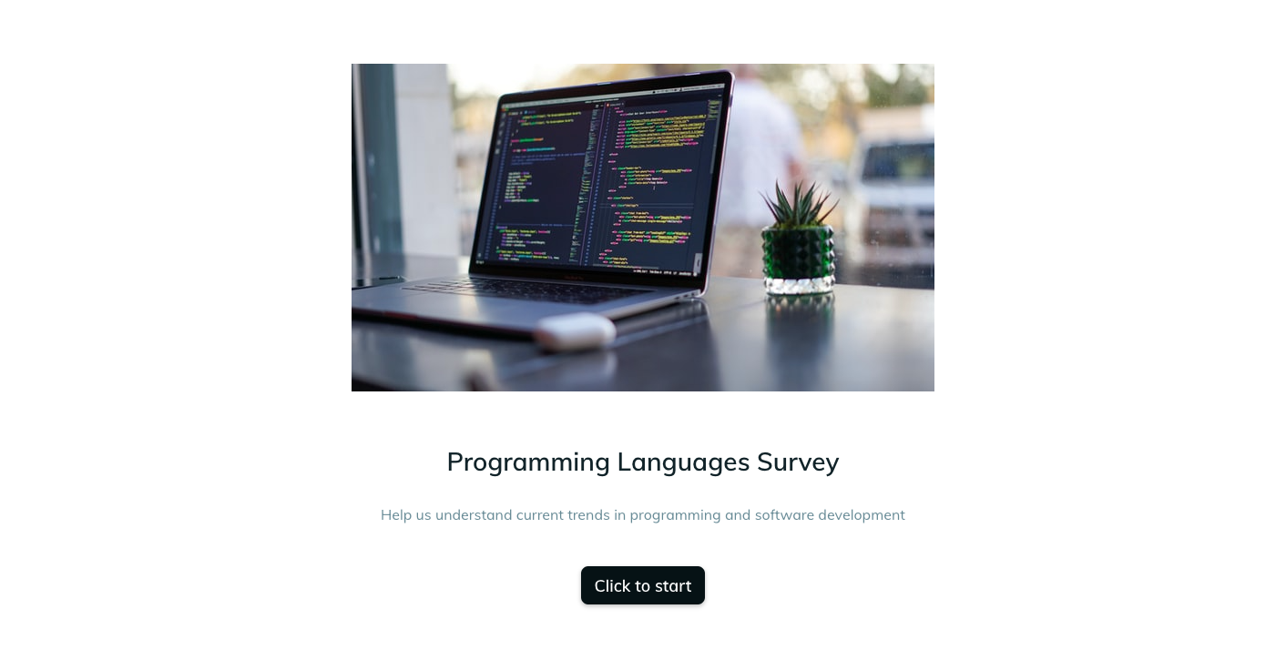 Template example of a programming language survey