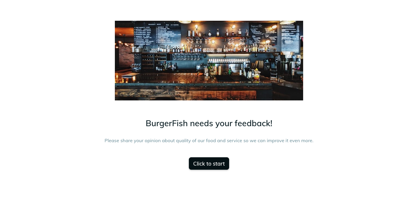 Template example of a restaurant feedback form