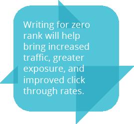 Writing for Zero Rank quote