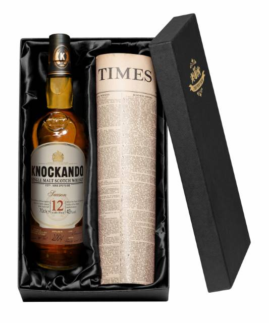 Knockando Malt Whisky and Newspaper