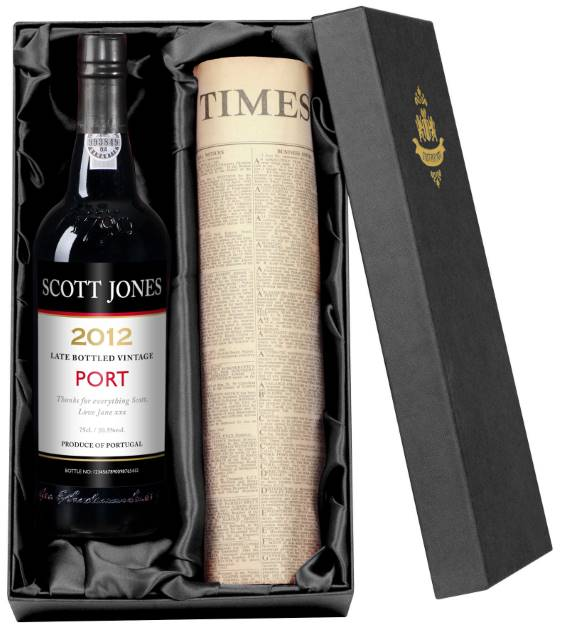 Personalised Port with Contemporary Label