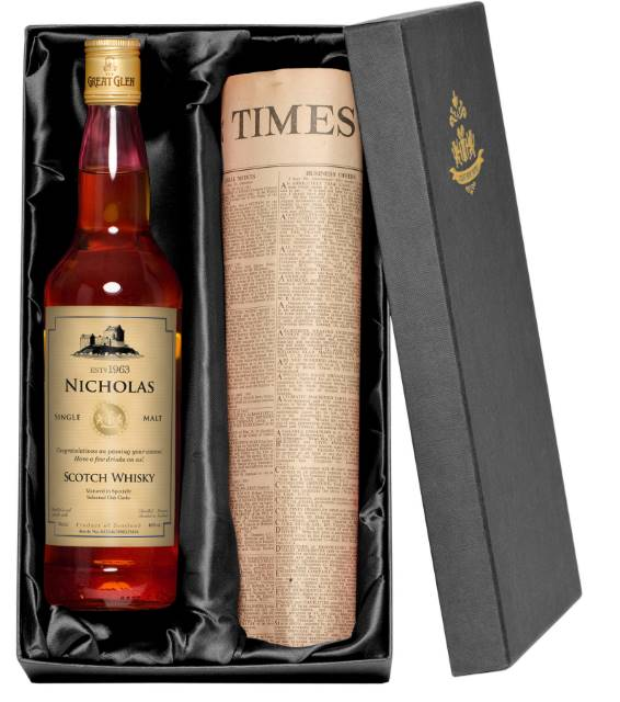 Personalised Single Malt Scotch Whisky with Generic Label
