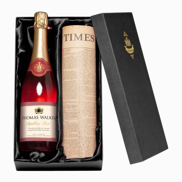 Personalised Sparkling Rosé Wine with Any Occasion Label