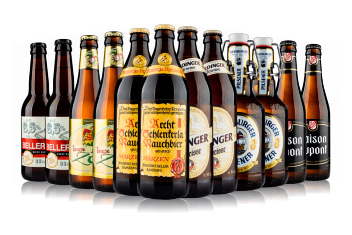 12 bottle case of a selection of European beers