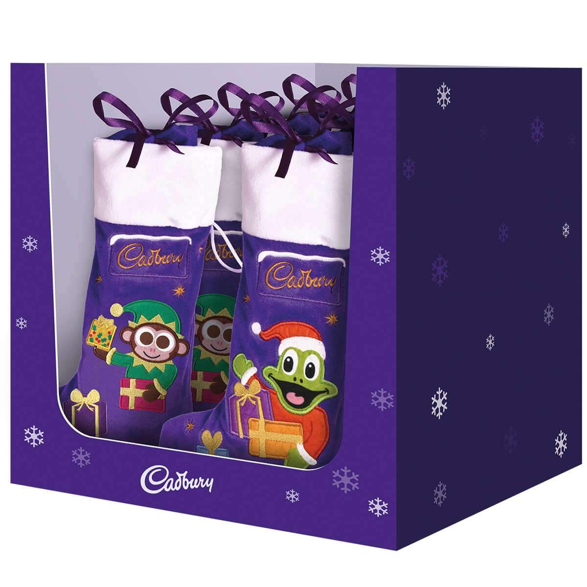Cadbury Selection Plush Stockings 192g Box of 10
