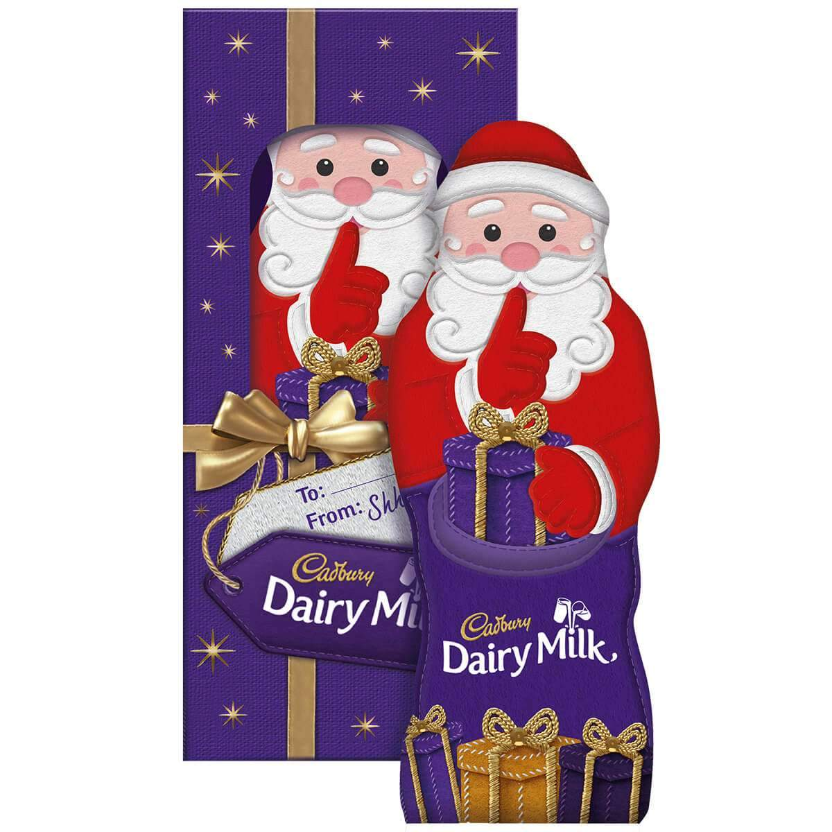 Cadbury Gift Chocolate Hollow Santa Gift 175g Box of 8