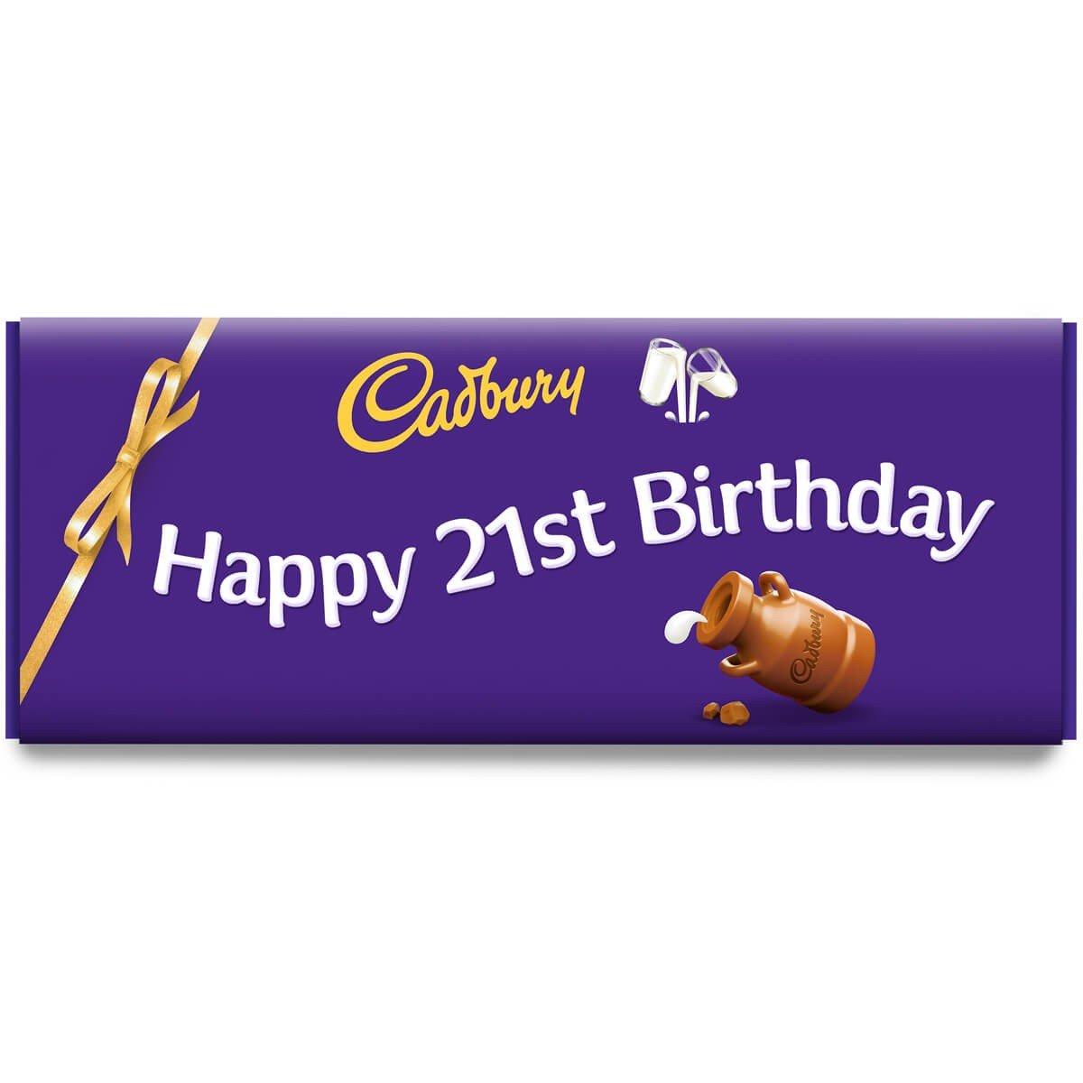 Happy 21st Birthday Dairy Milk Bar 850g