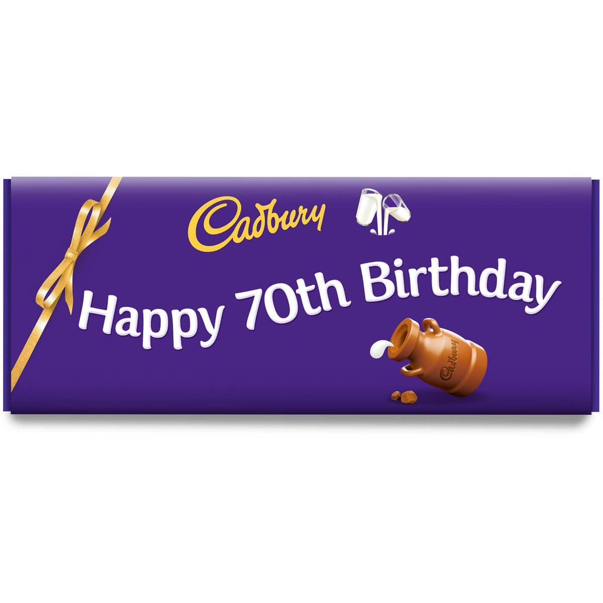 Happy 70th Birthday Dairy Milk Bar 850g