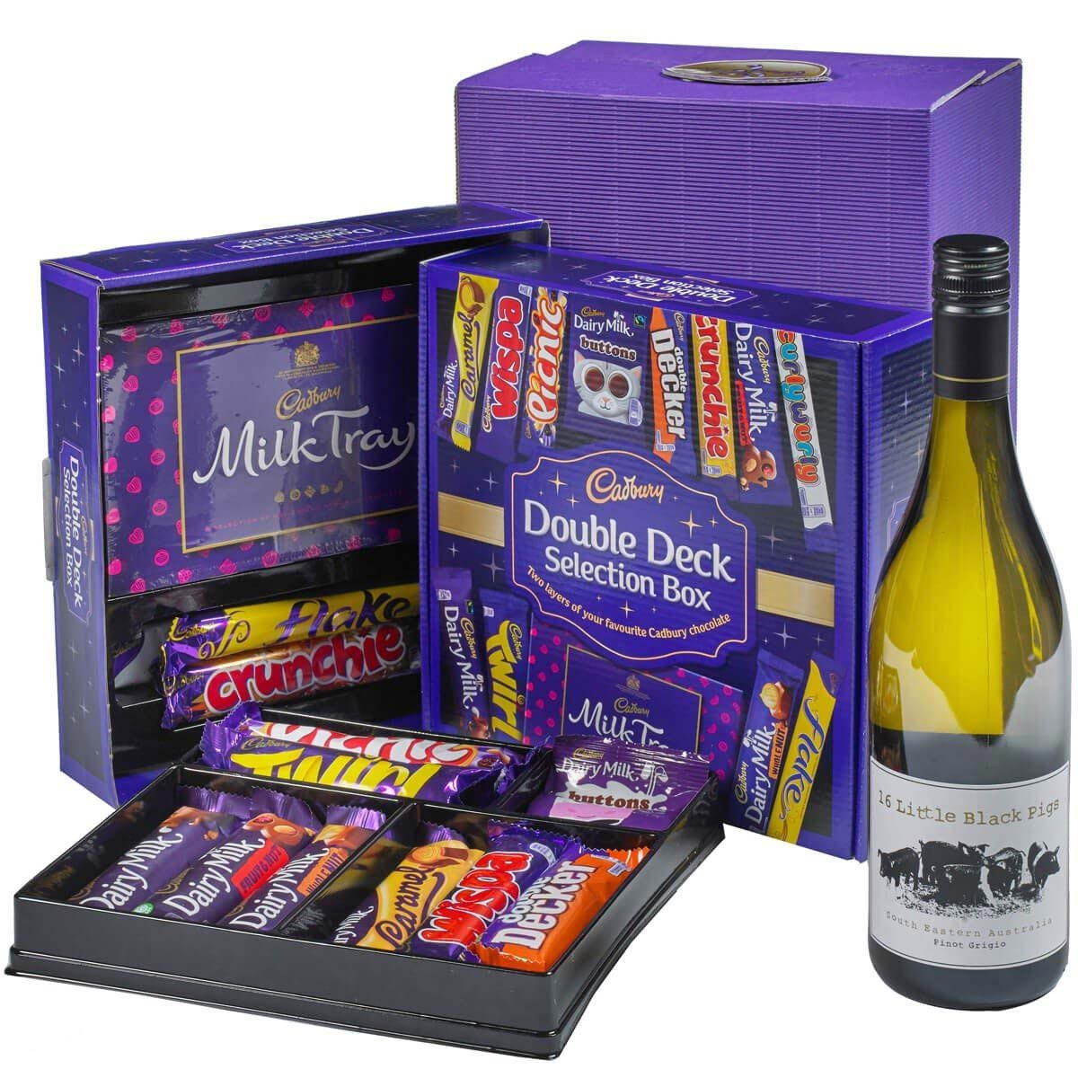 Cadbury Selection Box & White Wine Gift