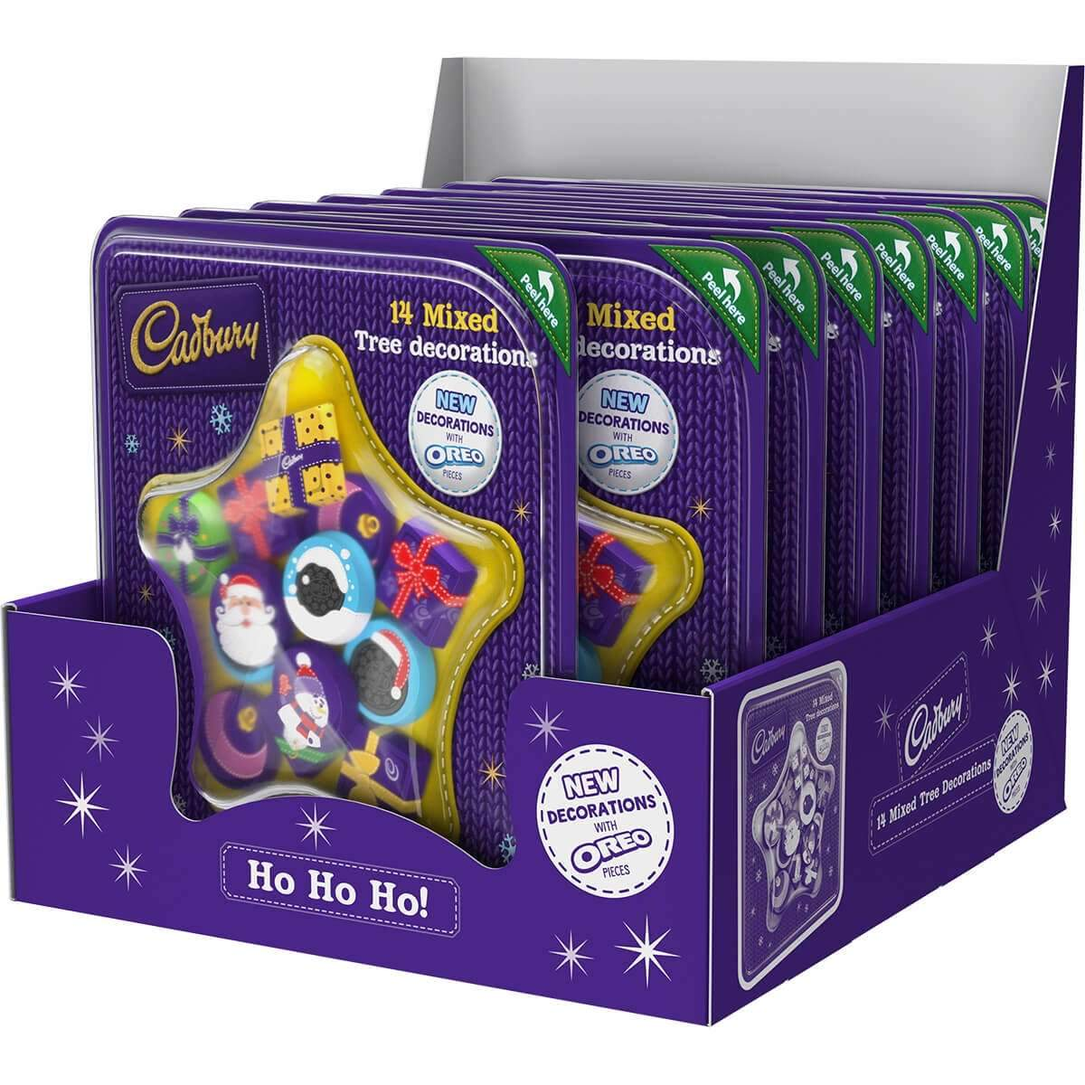 Cadbury Chocolate Tree Decorations 136g Box of 10