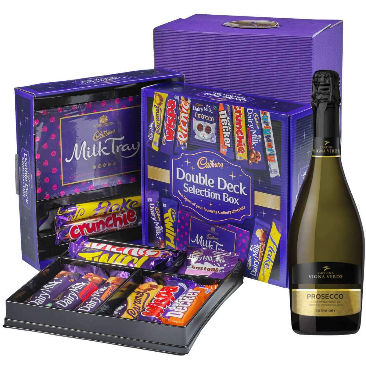 Cadbury Selection Box & Prosecco Gift