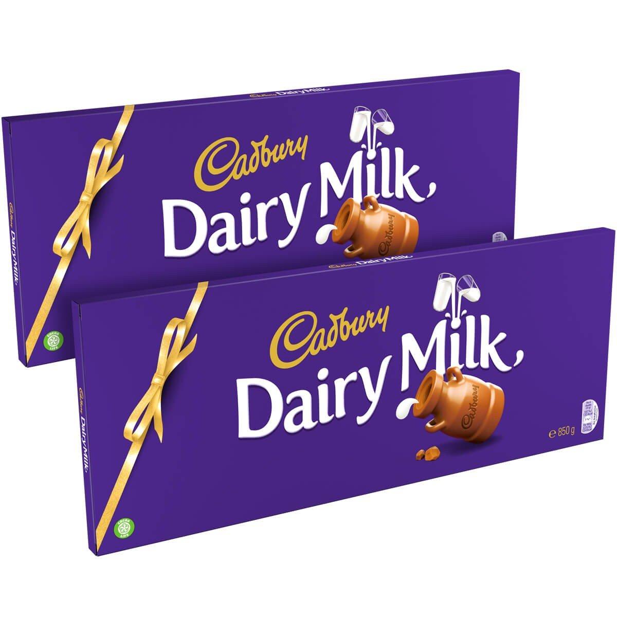 Cadbury Dairy Milk Bars 850g Twin Pack