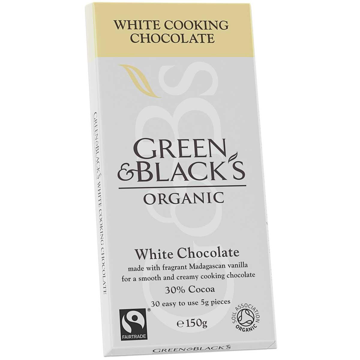 G&B's White Cook's Chocolate 150g Qty: 15