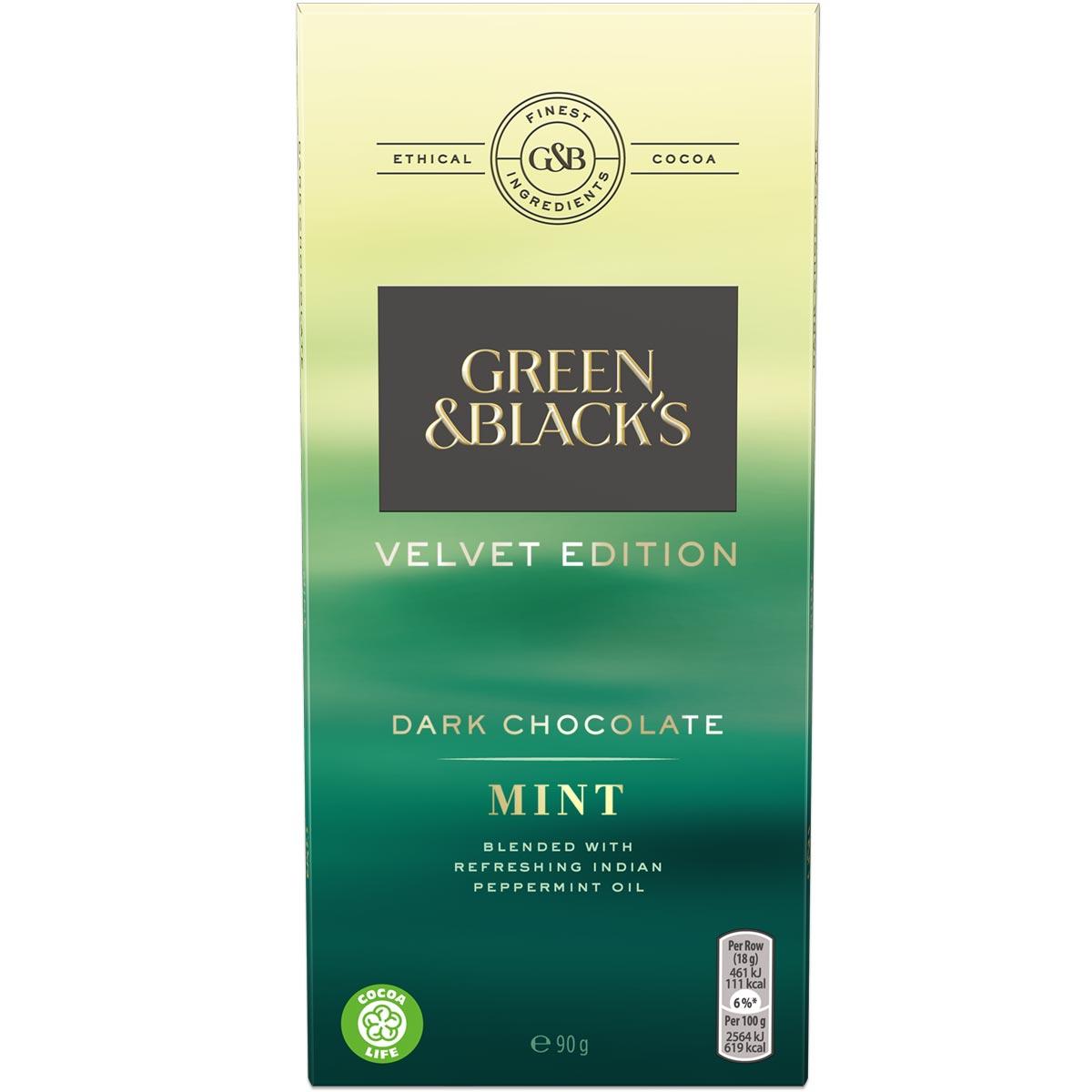 Mint Dark Chocolate 90g Bar Box of 18