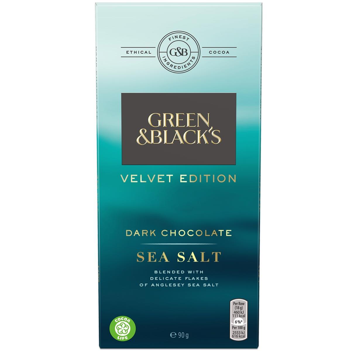 Sea Salt Dark Chocolate 90g Bar Box of 18