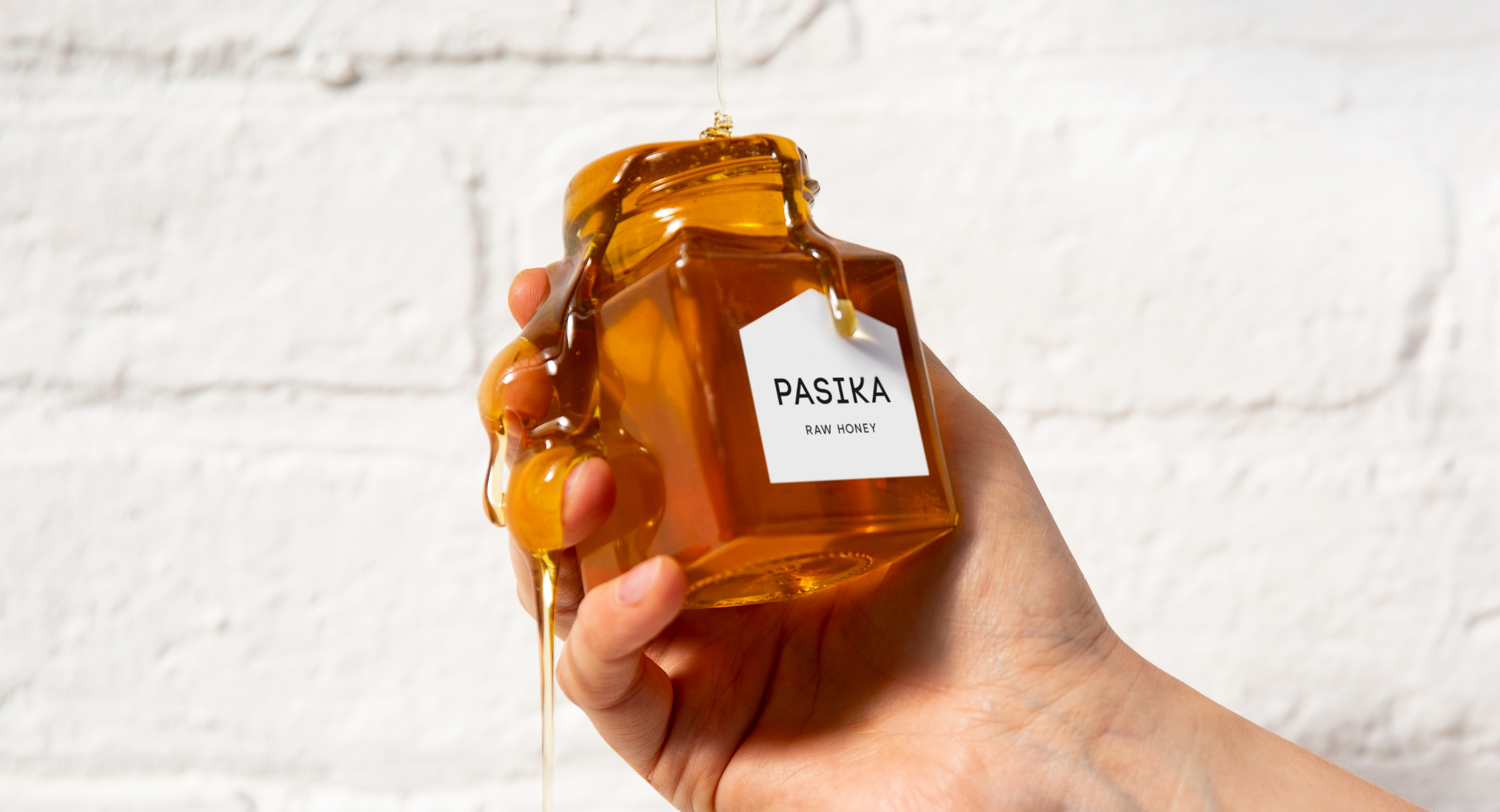 Pasika honey packaging