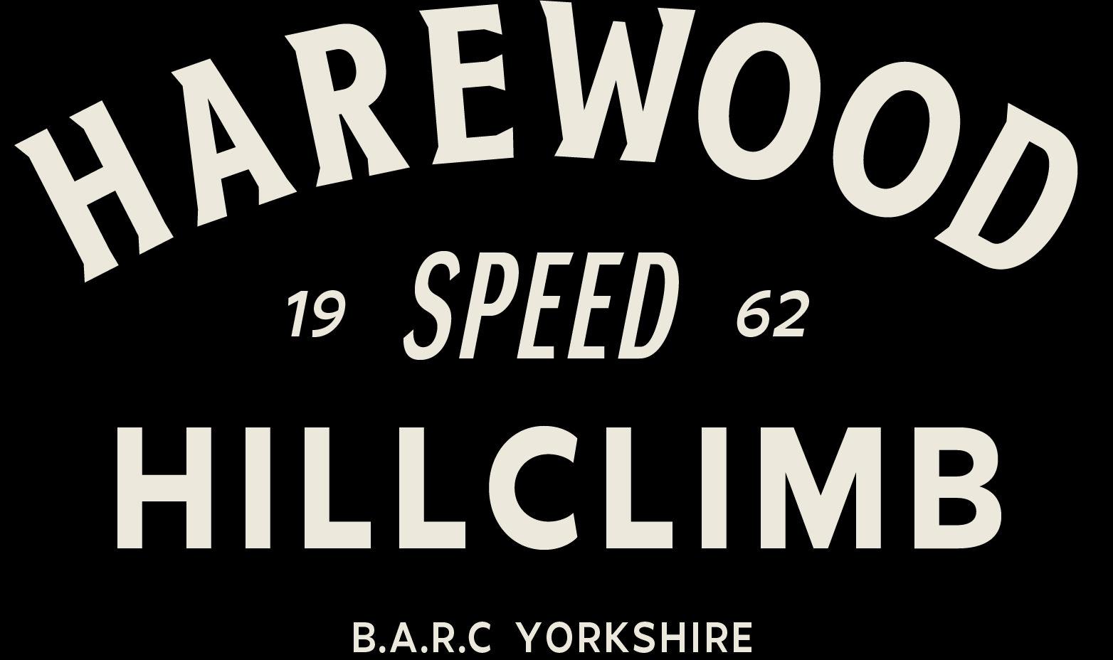 harewood hillclimb typographic logo