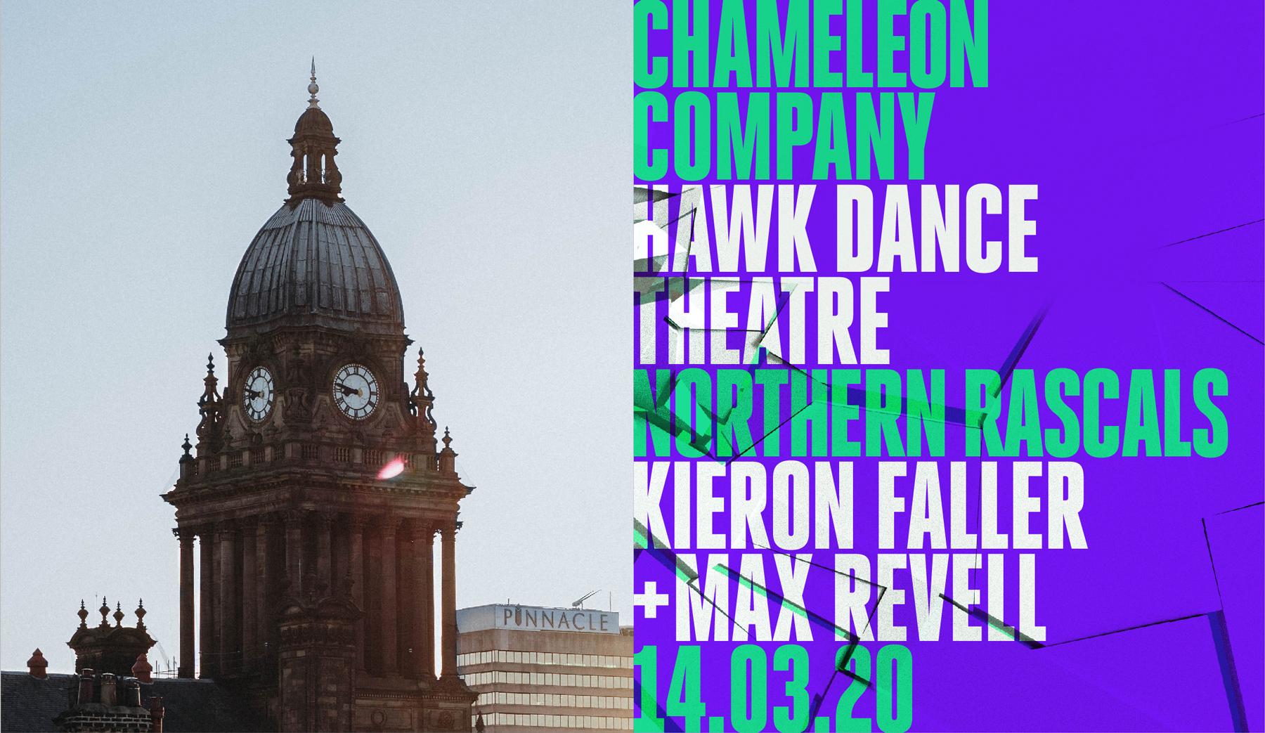 northern school of contemporary dance collide lineup design