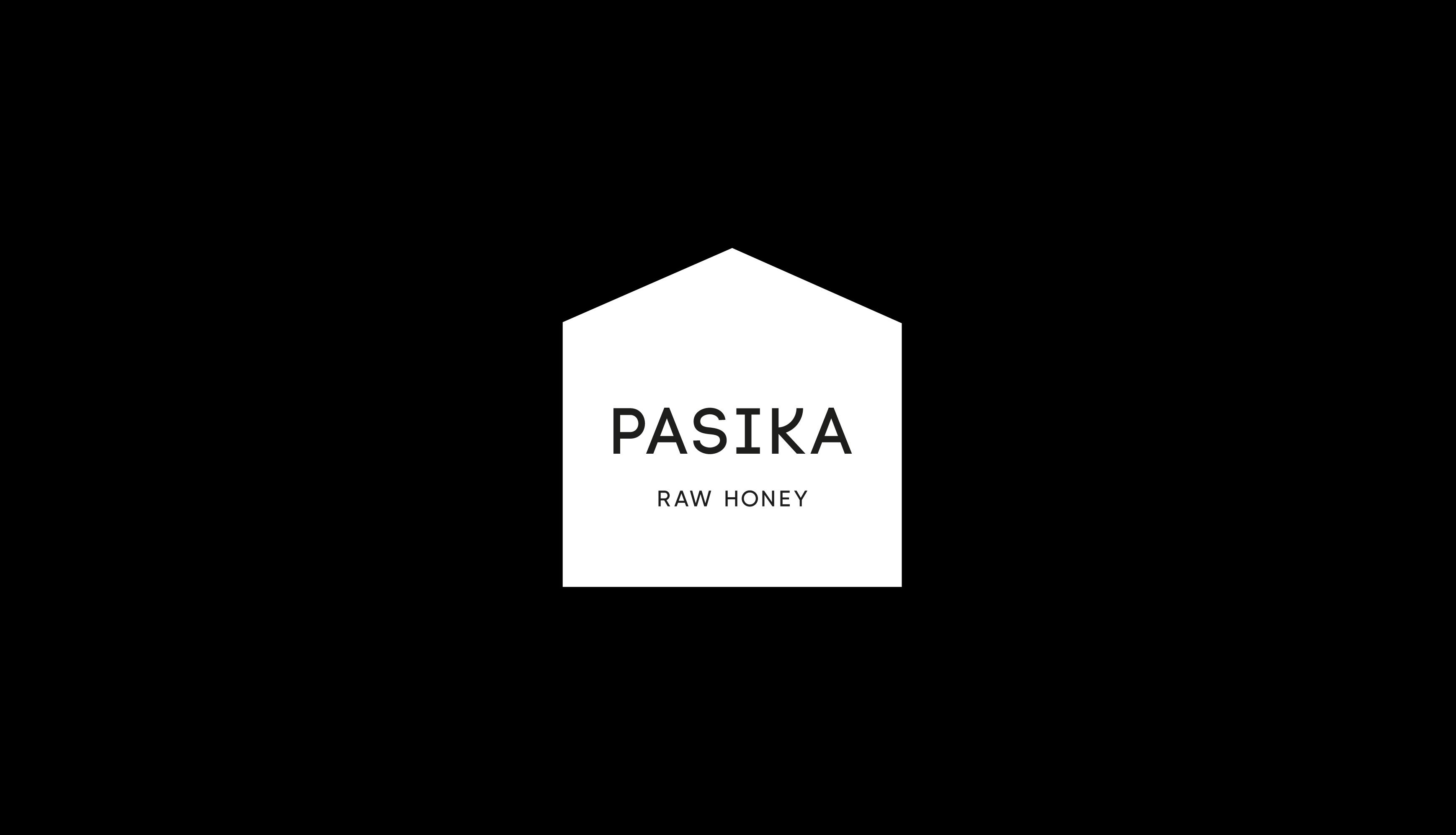 pasika honey label design