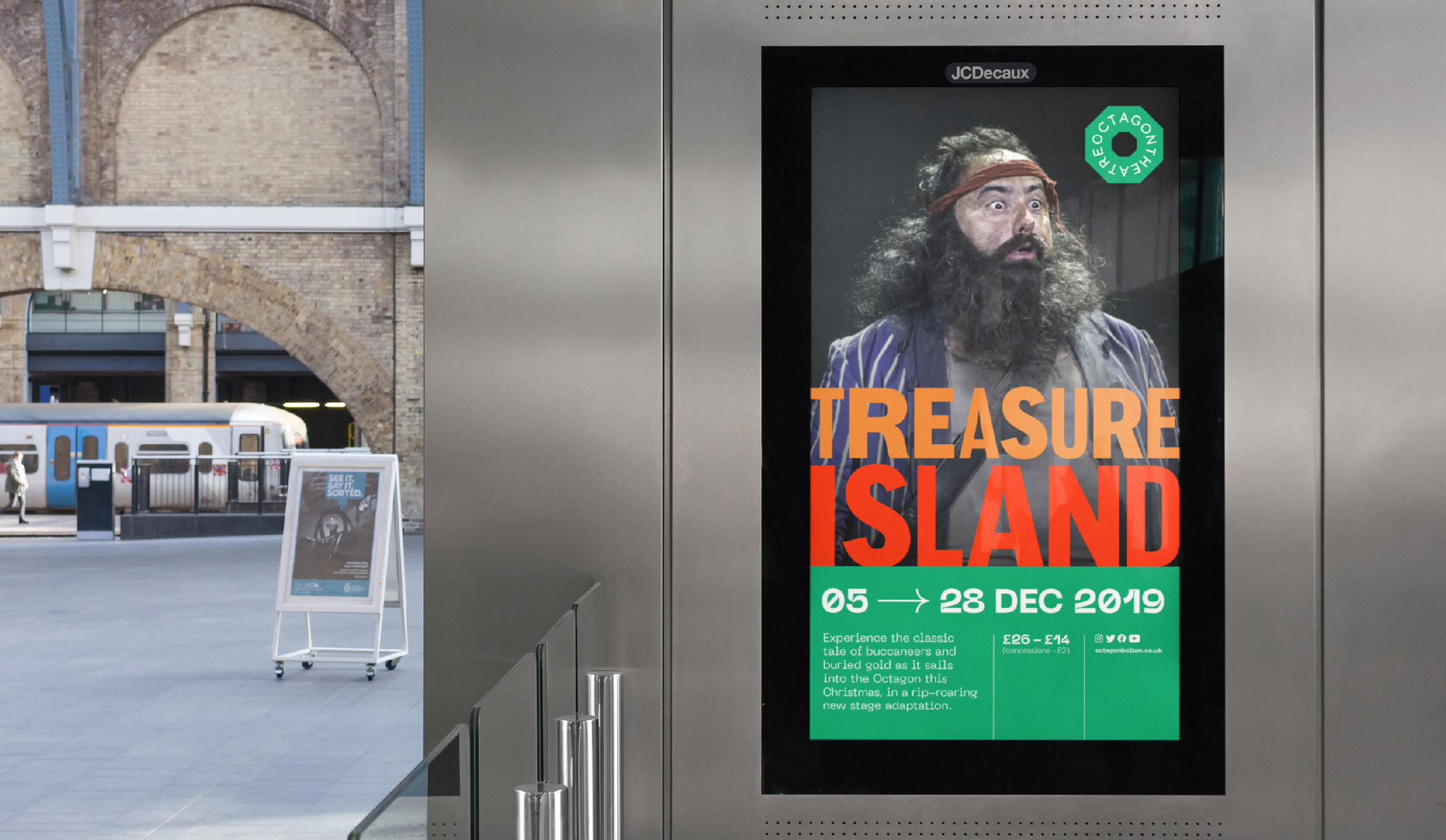 octagon theatre bolton animated digital posters