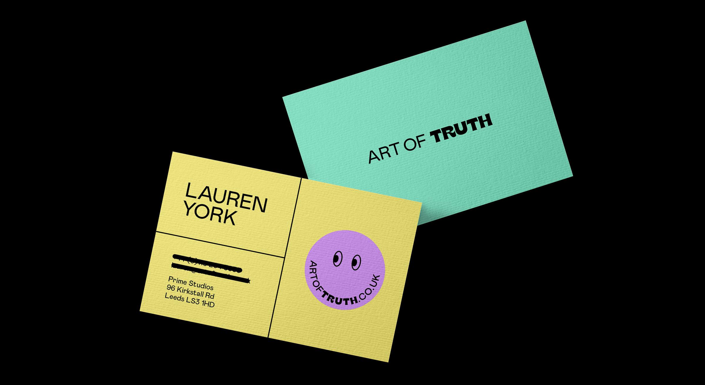 art of truth business card design