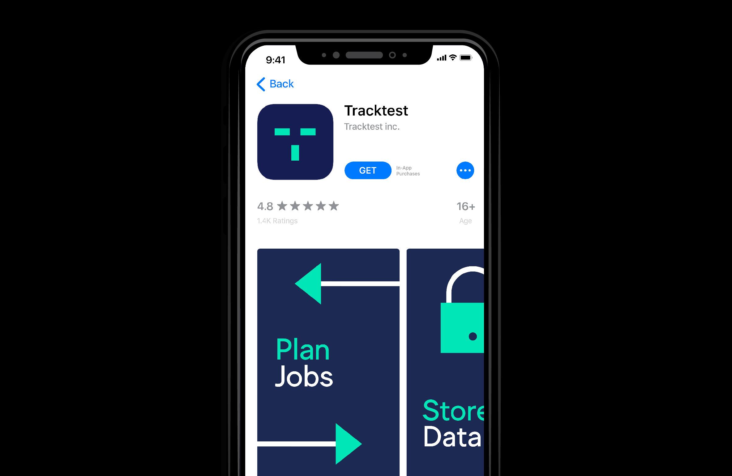 tracktest app design