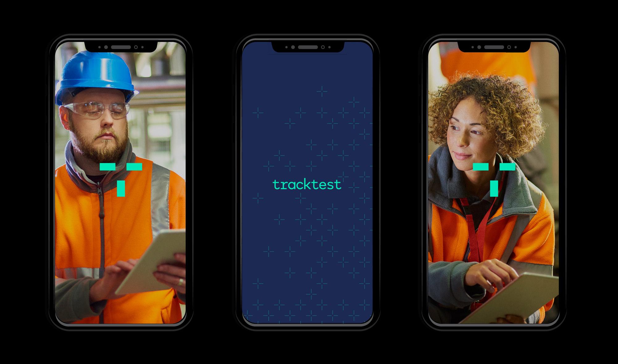 tracktest logo phones