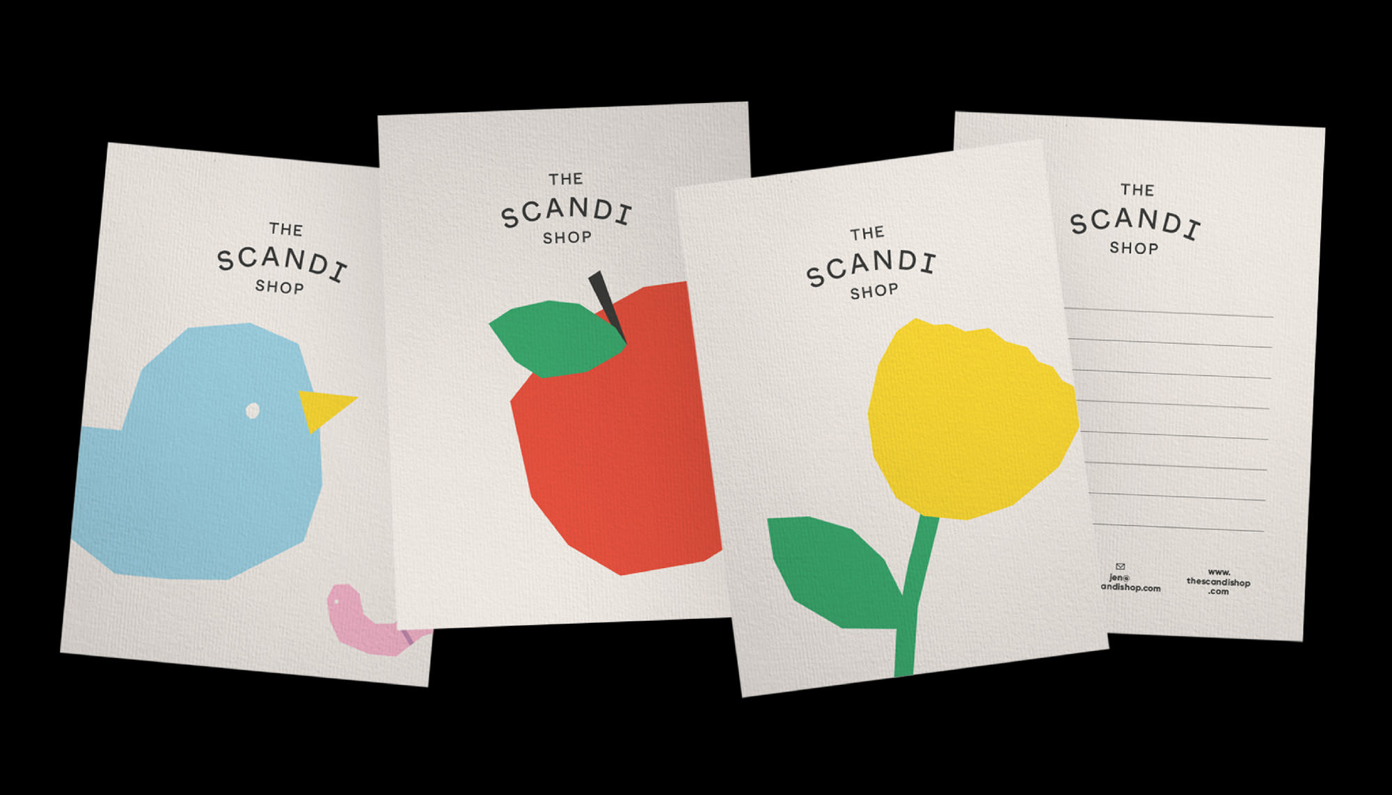 the scandi shop postcards