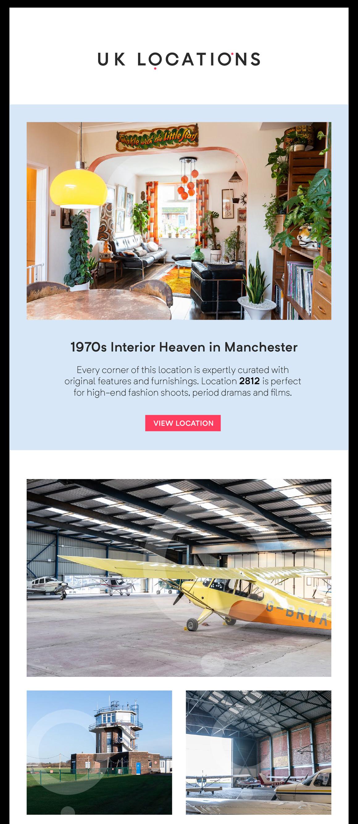 UK Locations email design