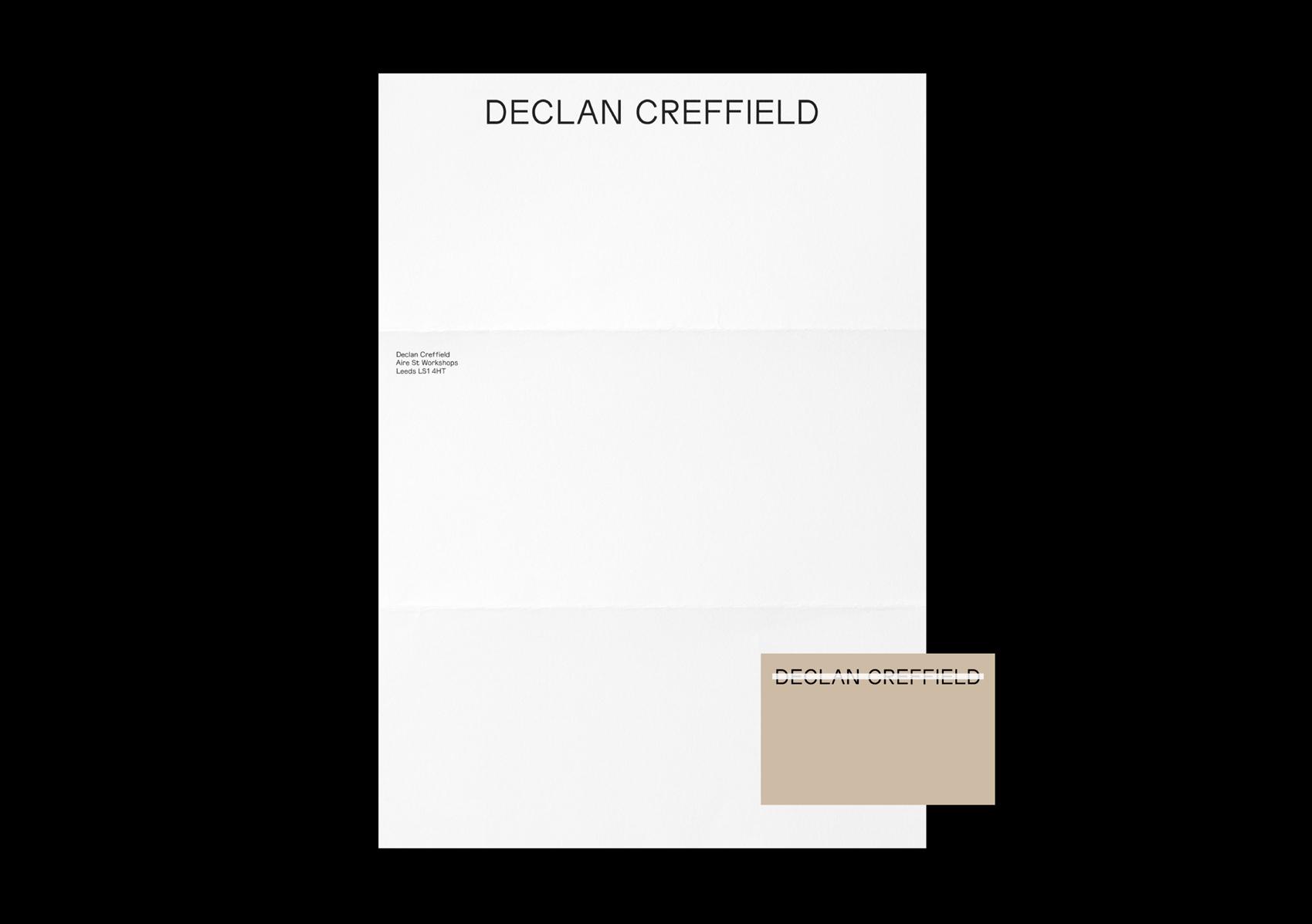 Declan Creffield stationery