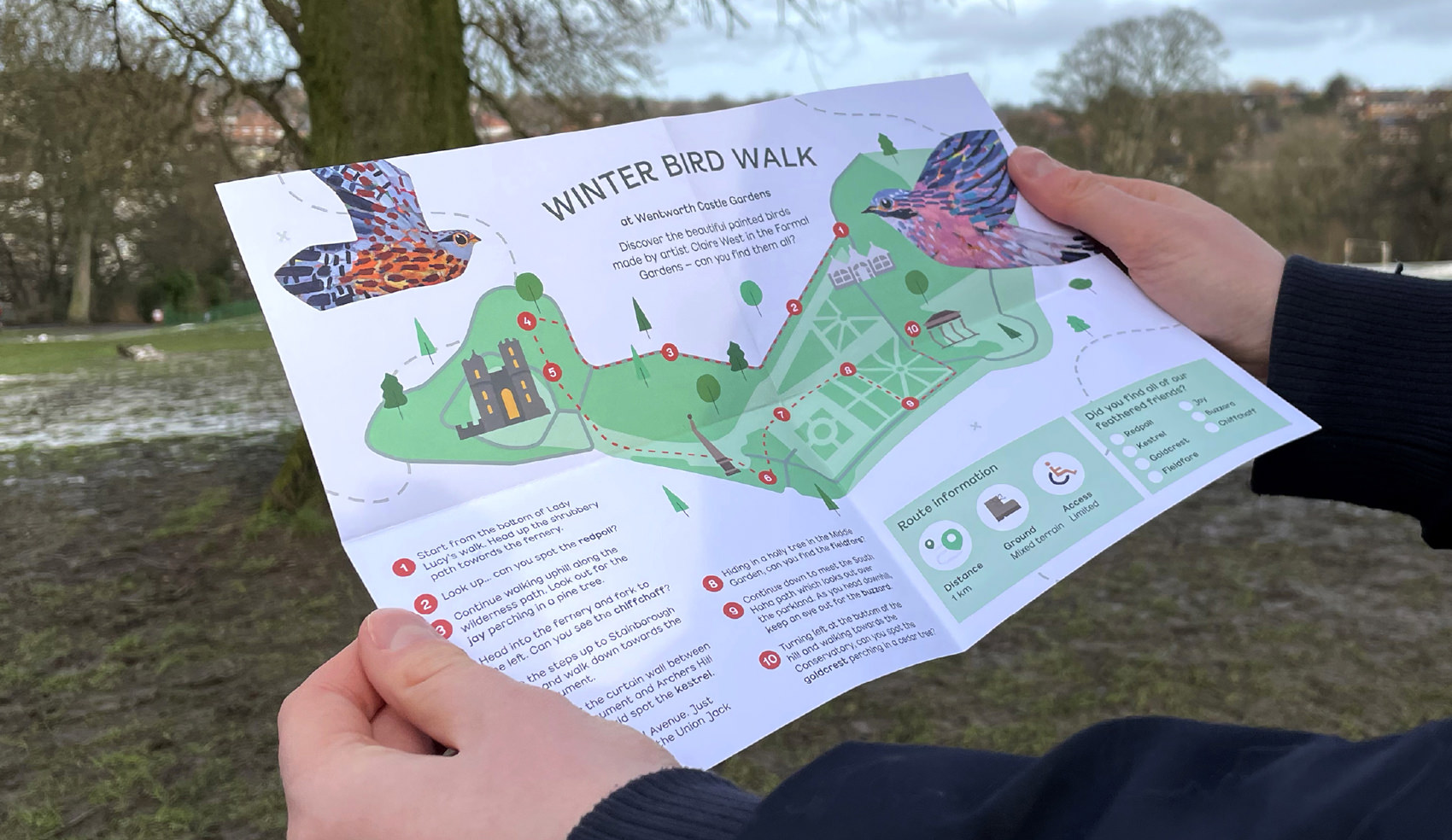 Barnsley Museums National Trust Winter Bird Walk map