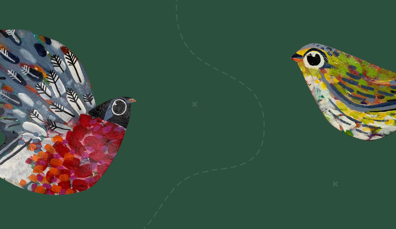 Barnsley Museums National Trust Winter Bird Walk illustration