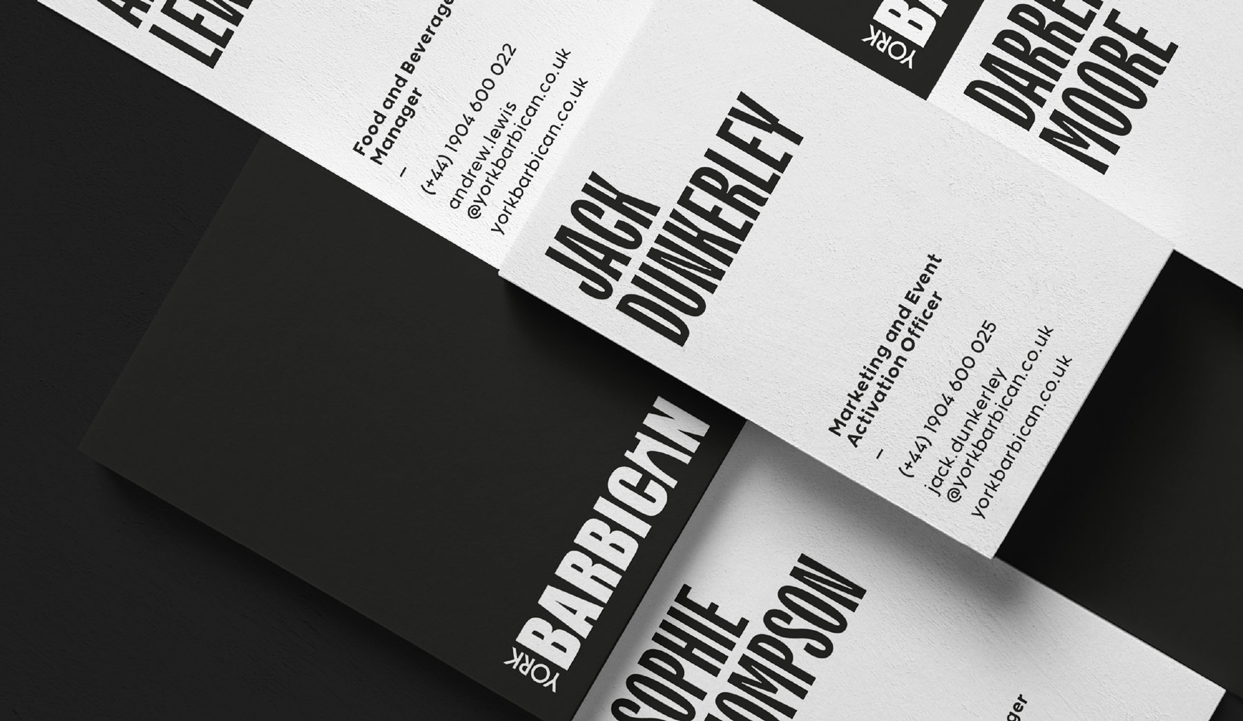 York Barbican Business Cards